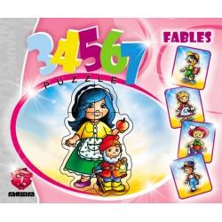 Puzzle Pohádkové postavy - DĚTSKÉ PUZZLE
