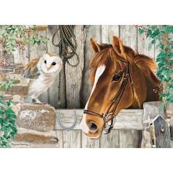 Puzzle Kůň a sova