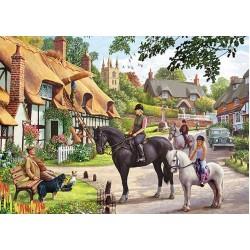 Puzzle Projížďka na koni