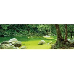Puzzle Řeka v pralese - PANORAMATICKÉ PUZZLE