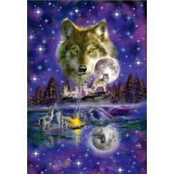 Puzzle Vlci při svitu měsíce