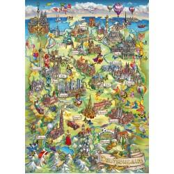 Puzzle Ilustrovaná mapa Německa