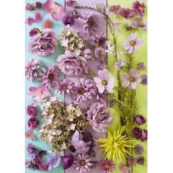 Puzzle Fialové květy