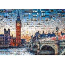 Puzzle Londýn - koláž z fotek