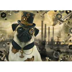 Puzzle Pes Steampunk