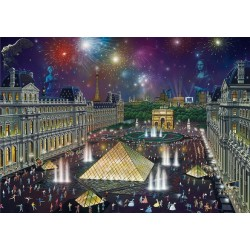 Puzzle Ohňostroje nad Louvrem