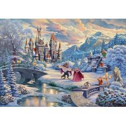 Puzzle Kráska a zvíře - kouzelný zimní večer