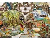 Puzzle Exotická mapa světa