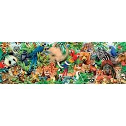 Puzzle Svět zvířat - PANORAMATICKÉ PUZZLE