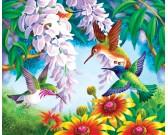 Puzzle Barevní kolibříci