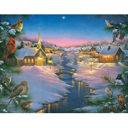 Puzzle Tichá noc v zimě