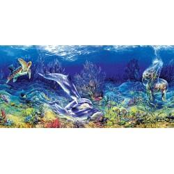 Puzzle Hraní na korálovém útesu - PANORAMATICKÉ PUZZLE
