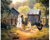 Puzzle Děti na venkově
