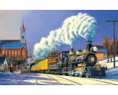 Puzzle Vlak v zimě