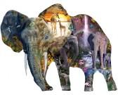 Puzzle Slon, vodopád - KONTURA PUZZLE