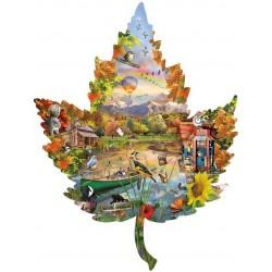 Puzzle List - podzim - KONTURA PUZZLE