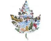 Puzzle List - jezero v zimě - KONTURA PUZZLE