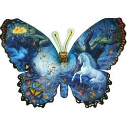 Puzzle Motýl - svět fantazie - KONTURA PUZZLE
