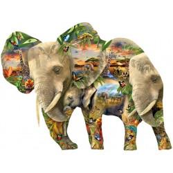 Puzzle Sloni - KONTURA PUZZLE