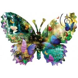 Puzzle Motýl - vodopád - KONTURA PUZZLE