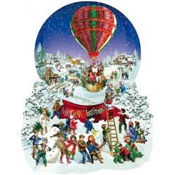 Puzzle Vánoční balón - KONTURA PUZZLE