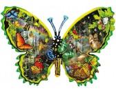Puzzle Motýl - barevný svět motýlů - KONTURA PUZZLE