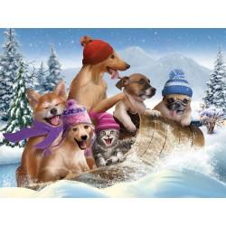 Puzzle Zimní zábava - XXL