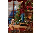 Puzzle Zdobení vánočního stromku - XXL PUZZLE