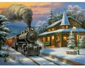 Puzzle Vánoční vlak - XXL