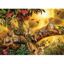 Puzzle Jaguáři v džungli