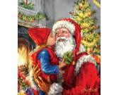 Puzzle Vánoční polibek