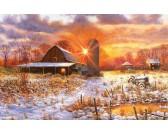 Puzzle Zasněžená farma