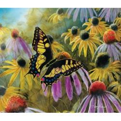 Puzzle Motýl mezi květy