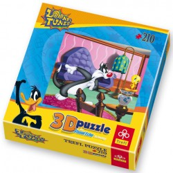 Puzzle Looney Tunes - v pokoji - PUZZLE s 3D efektem