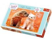 Puzzle Štěňátko s koťátkem - DĚTSKÉ PUZZLE