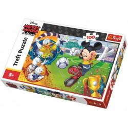 Puzzle Mickey Mouse - fotbal - DĚTSKÉ PUZZLE