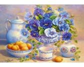 Puzzle Modrá kytice
