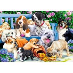 Puzzle Psi v zahradě