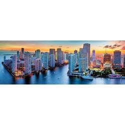 Puzzle Miami v noci - PANORAMATICKÉ PUZZLE