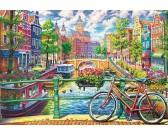 Puzzle Amsterdamský kanál