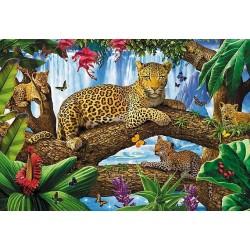 Puzzle Leopardi na stromě