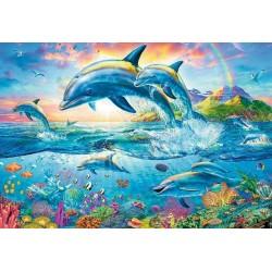 Puzzle Delfíní rodinka