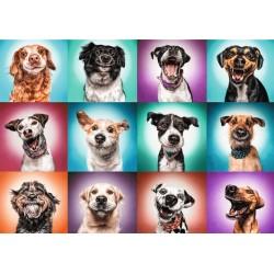 Puzzle Legrační psí portréty