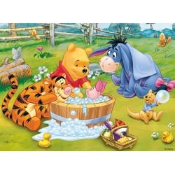 Puzzle Medvídek Pú - koupel - DĚTSKÉ PUZZLE