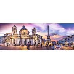 Puzzle Piazza Navona, Řím - PANORAMATICKÉ PUZZLE