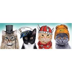 Puzzle Čtyři kočky - PANORAMATICKÉ PUZZLE