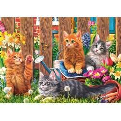 Puzzle Koťátka na zahradě