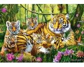 Puzzle Tygří rodina