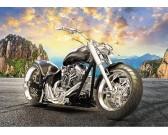Puzzle Černá motorka