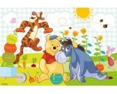 Puzzle Medvídek Pú - Med - DĚTSKÉ PUZZLE